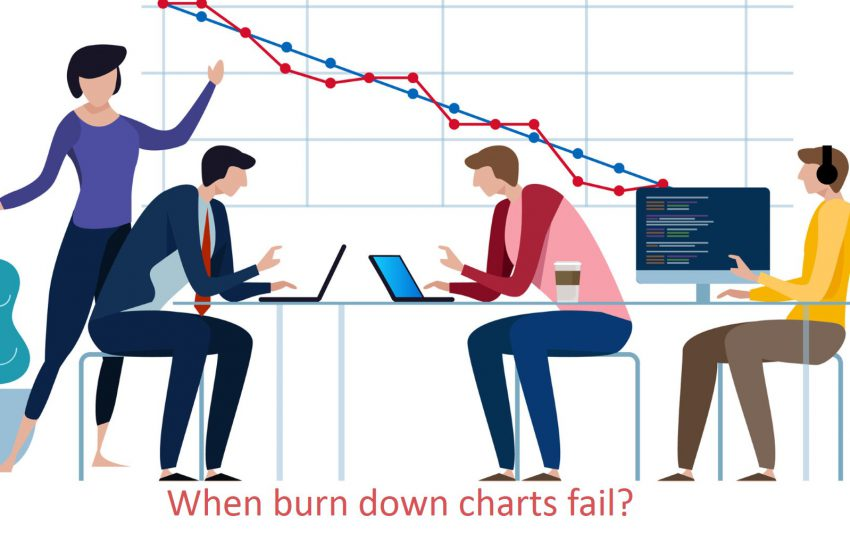 When burn down charts fail