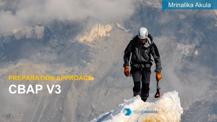 CBAP v3 preparation approach