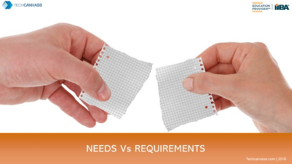 What is difference between needs and requirements