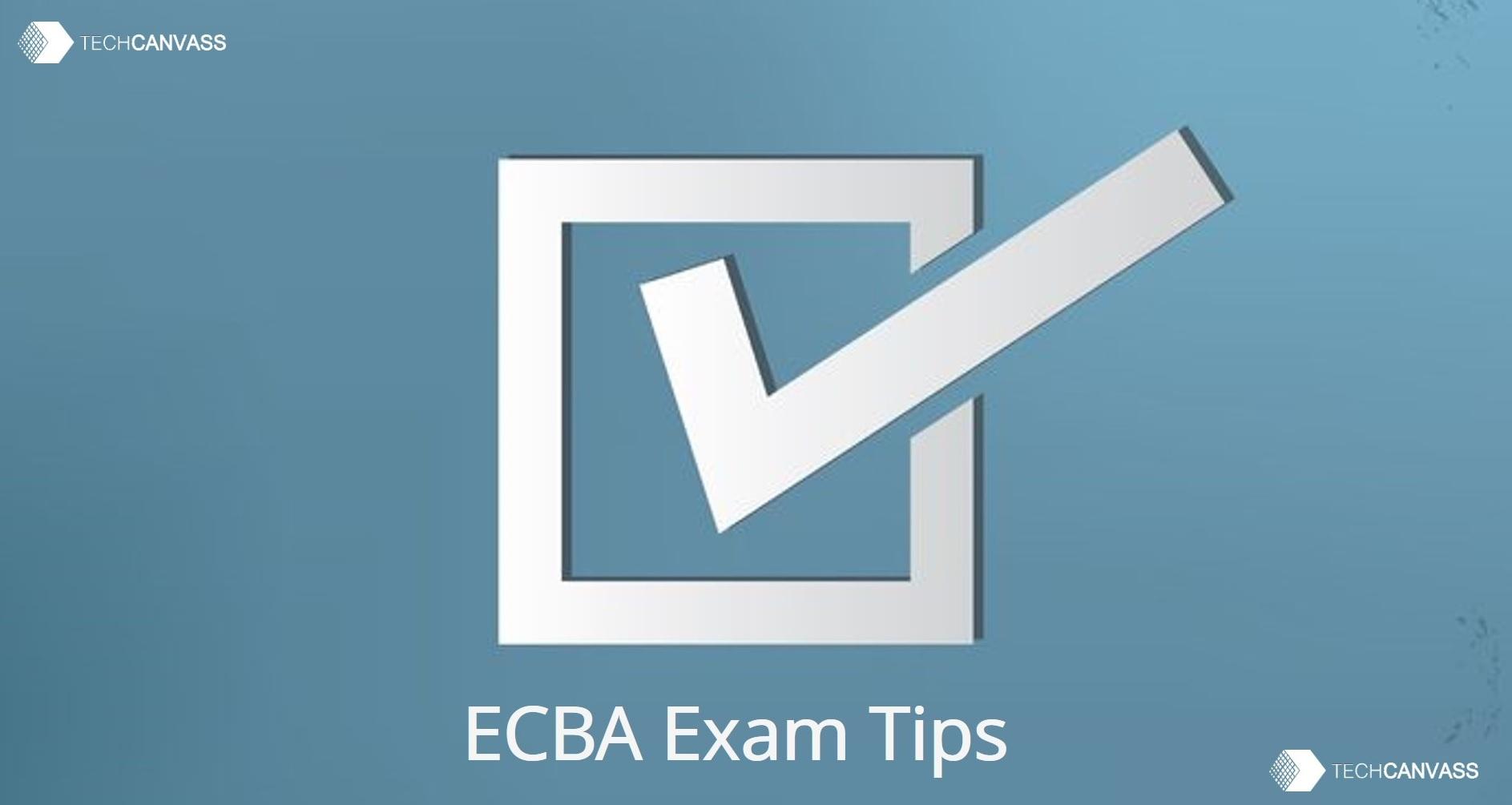 ECBA Exam Tips