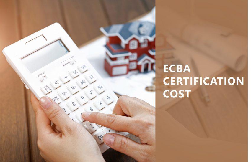 ECBA Certification Cost