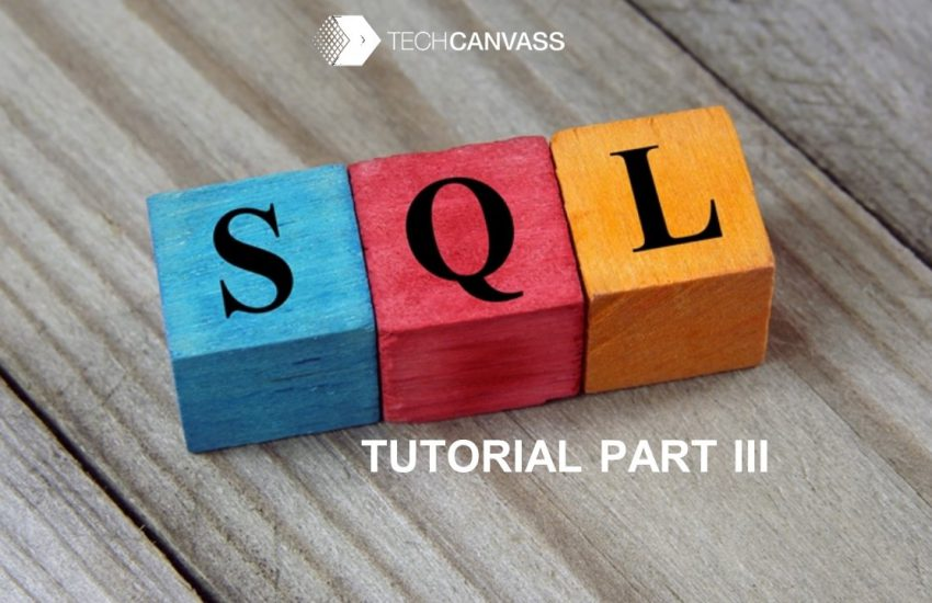 SQL Tutorial Part III