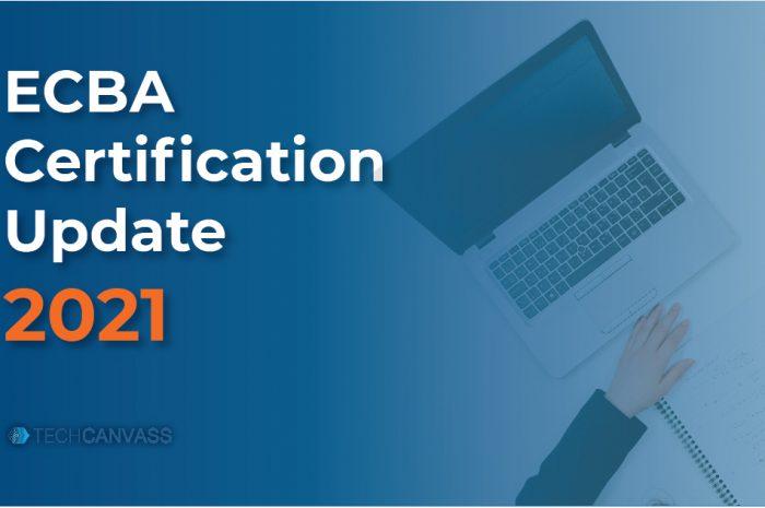 ECBA Certification Update 2021