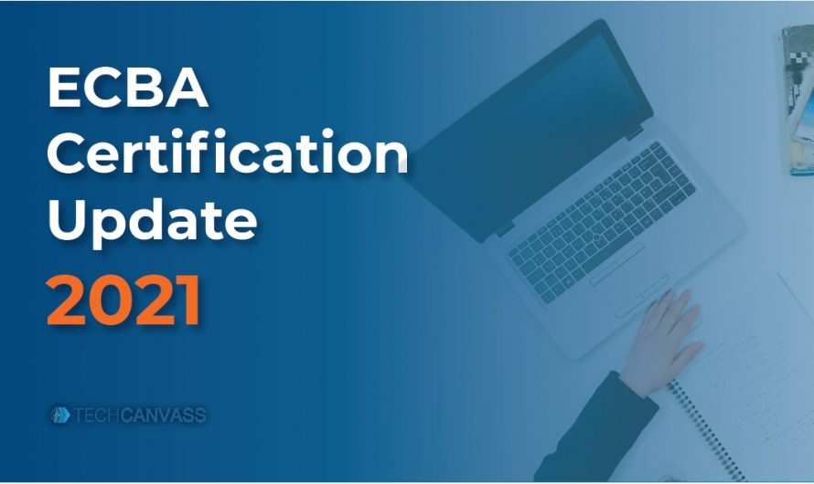 ECBA Certification Update 2021